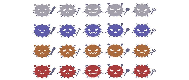 ウイルスと細菌は別物!